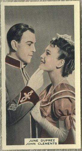June Duprez + John Clements 1939 A & M Wix Film Favourites Tobacco Card #99