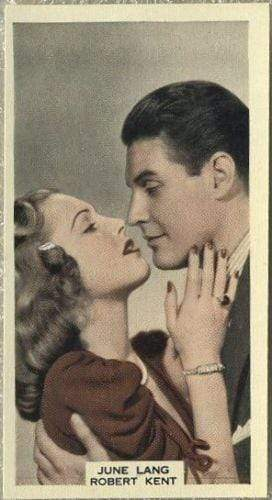 June Lang + Robert Kent 1939 A & M Wix Film Favourites Tobacco Card #92