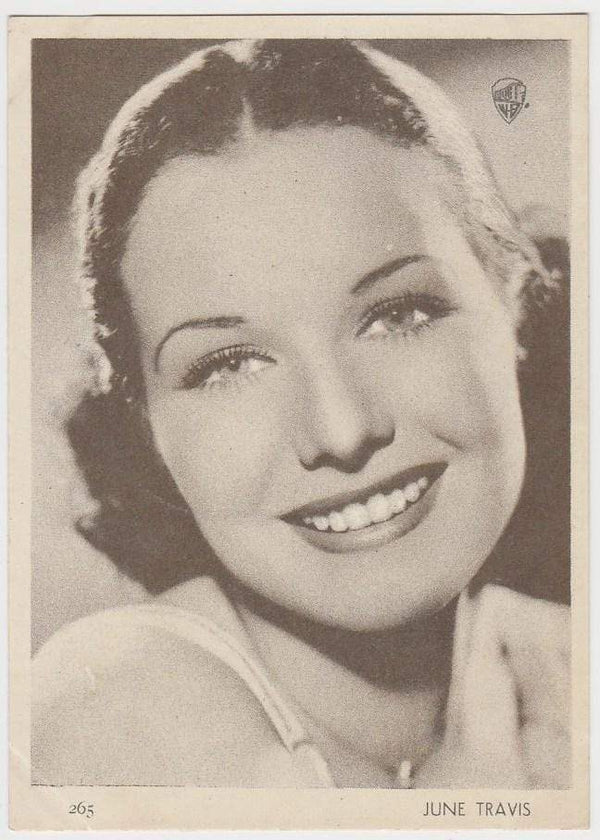 June Travis 1930s Aguila Large Paper Stock Trading Card #265