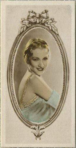 Karen Morley 1934 Godfrey Phillips Stars of the Screen Tobacco Card #30