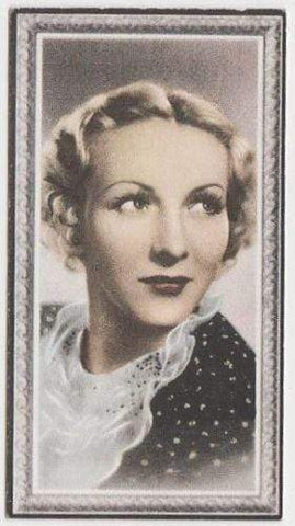 Karen Morley 1936 Godfrey Phillips Stars of the Screen Tobacco Card #41