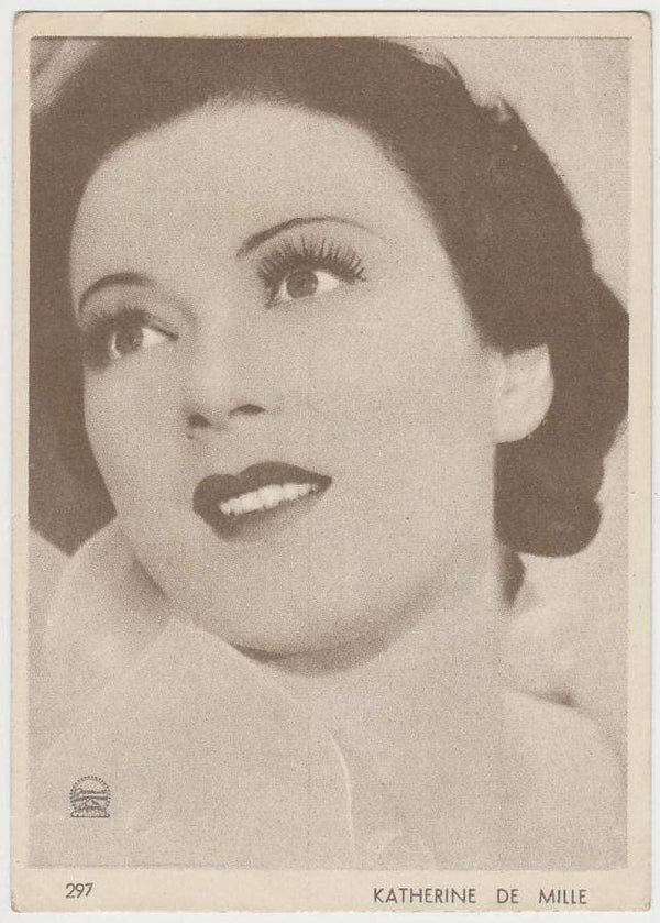 Katherine De Mille 1930s Aguila Large Paper Stock Trading Card #297