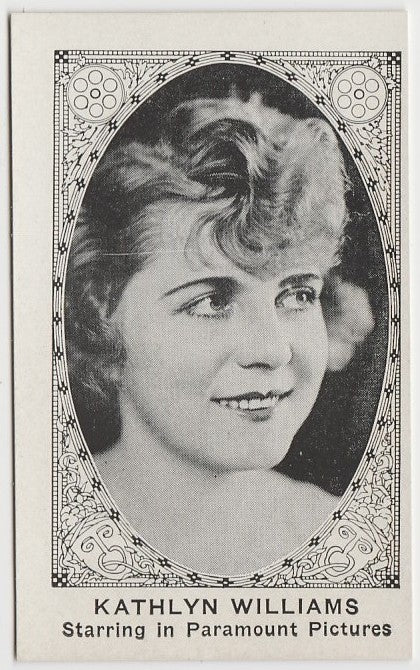 KATHLYN WILLIAMS 1921 American Caramel TRADING CARD No# Blank Back