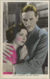 Kay Francis + Paul Cavanagh 1930s Real Photo Postcard - Film Partners #PC9 RPPC