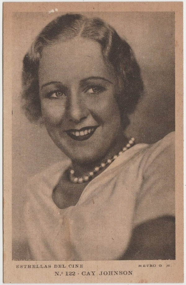 Kay Johnson vintage 1930s Estrellas del Cine Postcard from Spain #122