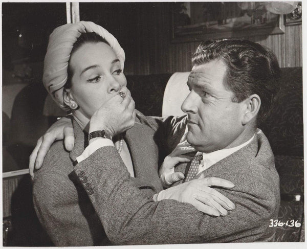 Kenneth More + Taina Elg 1959 Vintage 8x10 Linen Backed STILL PHOTO