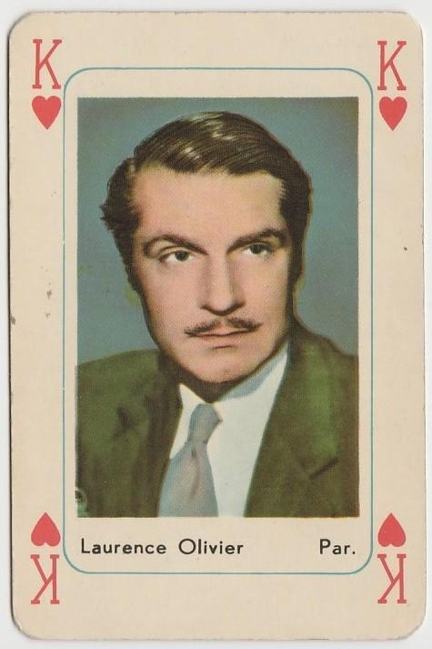 Laurence Olivier Vintage 1950s Maple Leaf Playing Card of Film Star