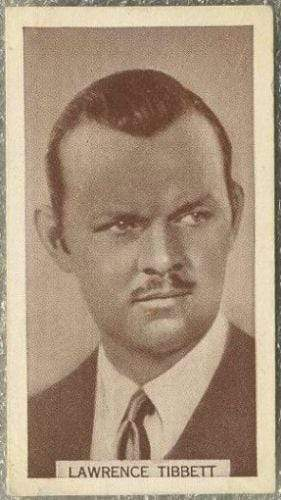 Lawrence Tibbett 1934 Wills Famous Film Stars Tobacco Card #52 - Standard Size