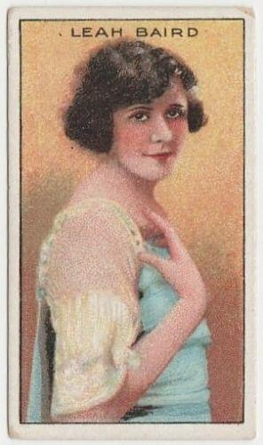 Leah Baird 1929 United Tobacco Movie Star Tobacco Card - BAT Flag Back