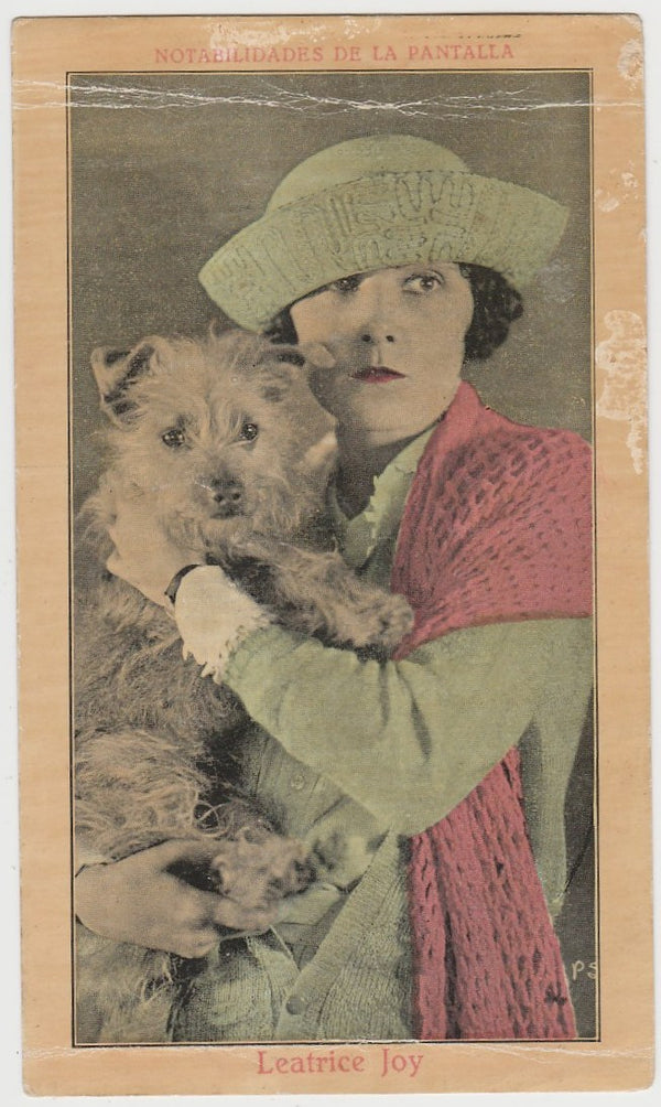 Leatrice Joy 1920s Juncosa Tall PAPER STOCK Trading Card #D-1