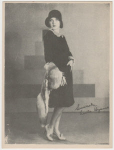 Leila Hyams 1933 Abdulla Cinema Stars Tobacco Card - Blank Back