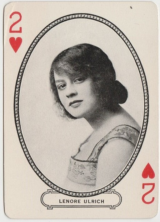 Lenore Ulrich 1916 MJ Moriarty Silent Film Star Playing Card