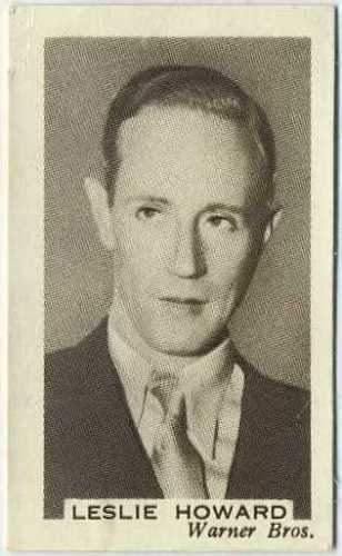 Leslie Howard 1936 Facchino's Cinema Stars Trading Card #25