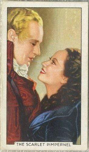 Leslie Howard + Merle Oberon 1935 Gallaher Famous Film Scenes Tobacco Card #20