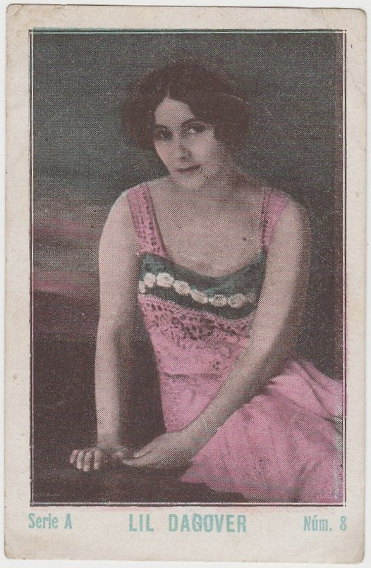Lil Dagover 1920s Guillen PAPER STOCK Trading Card #A-8