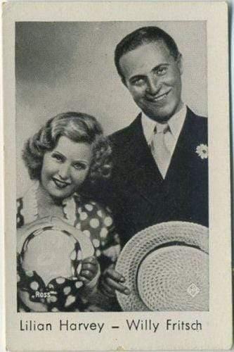 Lilian Harvey + Willy Fritsch 1930s Josetti Filmbilder Tobacco Card #787