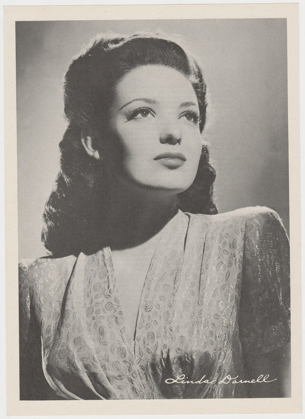 Linda Darnell 1946 Motion Picture Magazine Paper Printed Photo 7.5 X 10