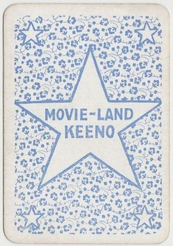 LOIS MORAN Vintage 1929 Wilder MOVIE-LAND KEENO Game Card