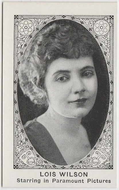LOIS WILSON 1921 American Caramel TRADING CARD No# Blank Back