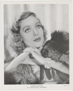 Loretta Young 1934 Godfrey Phillips Stars of the Screen Tobacco Card #38
