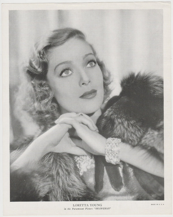 Loretta Young 1939 Rothmans Beauties of the Cinema Movie Star Trading Card