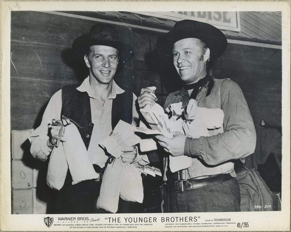 Lot of 10 Still Photos THE YOUNGER BROTHERS (1949) Wayne Morris, Bruce Bennett