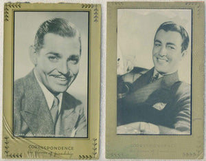 Lot of 2 - CLARK GABLE + ROBERT TAYLOR circa 1940 Writing Tablet Covers