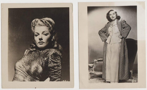 Lot of 8 Vintage 1940s Movie Star Mailaway Photos - 7 are 4x5