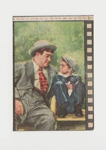 Lou Costello 1940s Paper Stock Trading Card - Film Frame Design AC#7 Italy