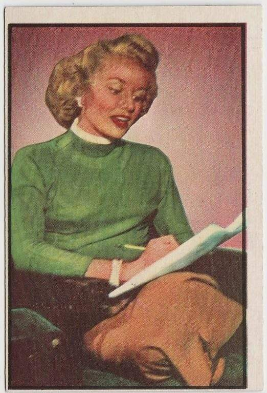 Lucille Norman 1953 BOWMAN Television and Radio Stars of NBC Trading Card #36
