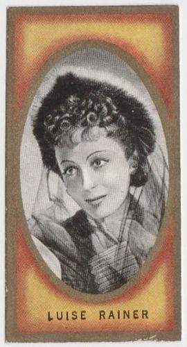 Luise Rainer 1938 Carreras Film Favourites Tobacco Card #42 - Movie Star