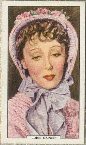 Luise Rainer 1939 Gallaher My Favourite Part Tobacco Card #1