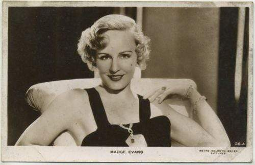 Madge Evans 1930s Real Photo Postcard #28A - Movie Star RPPC