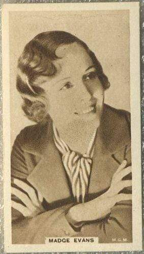 Madge Evans 1933 United Kingdom Co Cinema Stars Tobacco Card #17
