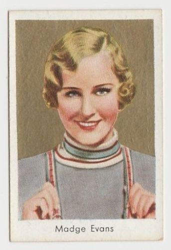 Madge Evans 1934 Salem Goldfilm Movie Star Tobacco Card #440