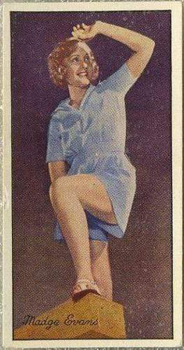 Madge Evans 1935 Carreras Famous Film Stars Tobacco Card #11 Variation 2 of 2