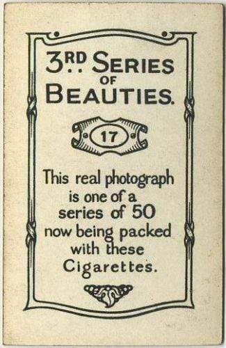 Madge Titheradge 1926 BAT 3rd Series of Beauties Tobacco Card #17