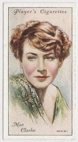 Mae Clarke 1934 John Player Film Stars Tobacco Card 2nd Series #11