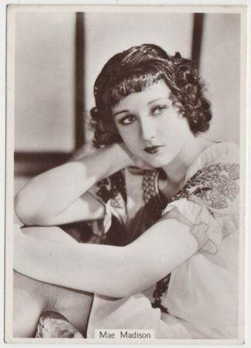 Mae Madison 1938 Godfrey Phillips Beauties of To-Day XL Tobacco Card S5 #24