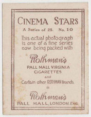Mae Murray 1925 Rothmans Cinema Stars Tobacco Card #10
