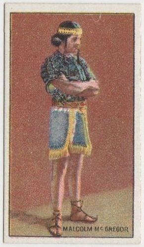 Malcolm McGregor 1929 United Tobacco Movie Star Tobacco Card - BAT Flag Back