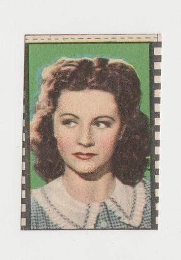 Margaret Lockwood 1940s Paper Stock Trading Card - Film Frame Design
