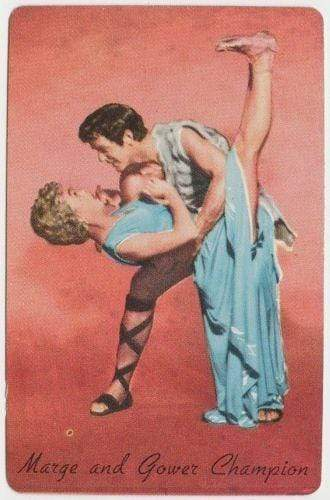 Marge and Gower Champion 1955 General Mills MGM Movie Star Trading Card