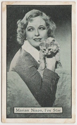 Marian Nixon 1930s Aguila Large Paper Stock Trading Card #214