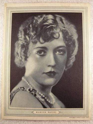 Marion Davies 1930s Detroit Sunday Times Supplement Photo - 9x12