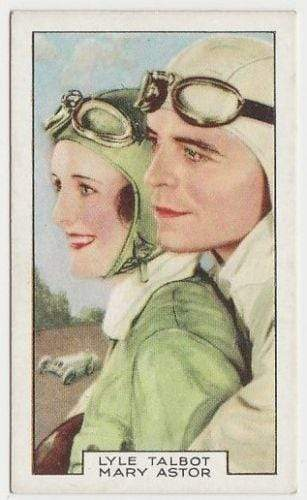 Mary Astor + Lyle Talbot 1935 Gallaher Film Partners Tobacco Card #16