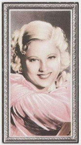 Mary Carlisle 1936 Godfrey Phillips Stars of the Screen Tobacco Card #21