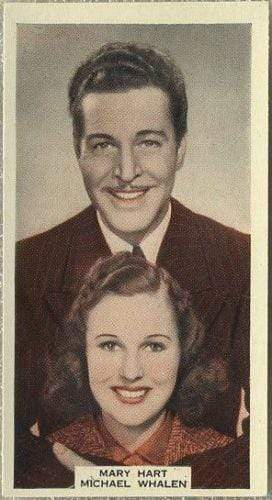 Mary Hart + Michael Whalen 1939 A & M Wix Film Favourites Tobacco Card #55