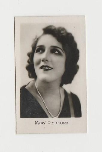 MARY PICKFORD 1930s Trading Card - Film Star Biscuit Card Mystery Issue