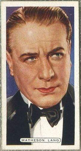 Matheson Lang 1935 Ardath Film Stage and Radio Stars Tobacco Card #30